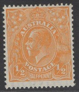 AUSTRALIA SG94 1928 ½d ORANGE MNH