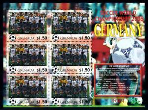 [95400] Grenada 2006 World Cup Football Germany Sheet MNH