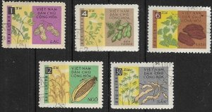 1962   Vietnam   Crops    SC #224-229  Used