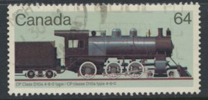 Canada SG 1135  Used Steam Locomotive CP D10a      SC# 1039  see scan