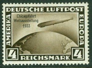 EDW1949SELL : GERMANY 1933 Scott #C45 Very Fine, Mint Original Gum. Catalog $75.