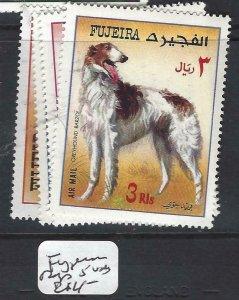 FUJEIRA   (P0807B)  DOGS      5    VALUES  MNH