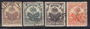 HAITI SCOTT# 40,41,42,43 USED 1896    SEE SCAN