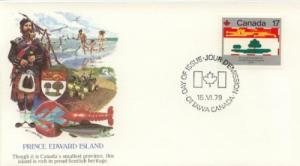 1979 Canada Prince Edward IS Flag (Scott 827) Fleetwood FDC