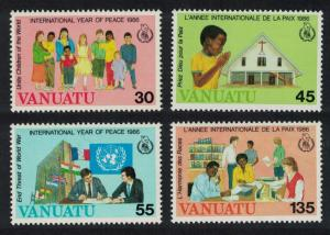 Vanuatu Christmas International Peace Year 4v SG#446-449 SC#430-433