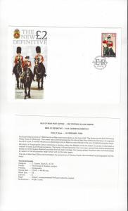 Isle of Man 412 Queen Elizabeth II Definitive 1990  Official FDC