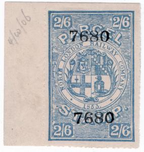 (I.B) North London Railway : Parcel Stamp 2/6d