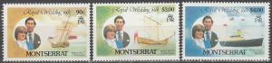 Montserrat #465, 467, 469  MNH F-VF  (SU4519)