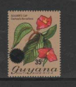 GUYANA #234 1976 35c on 60c FLOWER MINT VF NH O.G