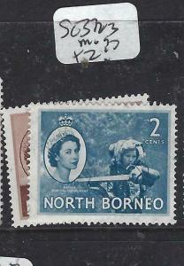 NORTH BORNEO   (P2704B)  QEII  1C, 2C  SG 372-3   MOG