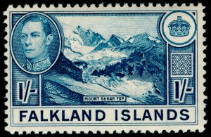FALKLAND ISLANDS SG158b, 1s dull blue, LH MINT. Cat £38.