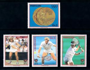 [92265] Paraguay 1988 Olympic Games Seoul Tennis Graf Becker  MNH