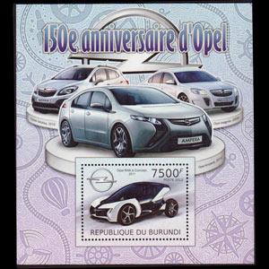 BURUNDI 2012 - Scott# 1095 S/S Opel Car NH