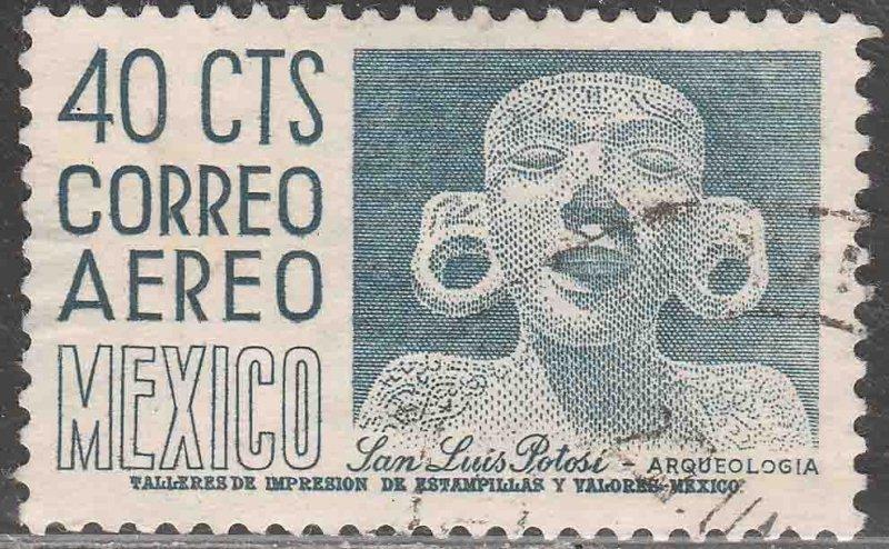MEXICO C220Dm, 40¢ 1950 Def. 2nd Printing wmk 300 PERF 11½X11 USED VF (613)