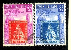 ITALY 568-9 USED FVF Cat $40