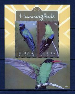 BEQUIA  2019  HUMMINGBIRDS  SHEET MINT NH