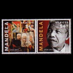 ST.KITTS 2013 - Scott# 860a-b S/S Nelson Mandela Set of 2 NH