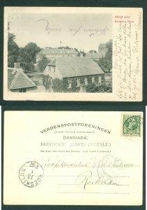 Denmark. Postcard 1906 RPO Odense . View Of Kings Garden  5 Ore. Adr: Roskilde