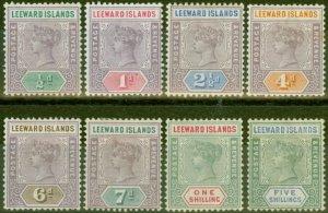 Leeward Islands 1890 set of 8 SG1-8 Fine Mtd Mint