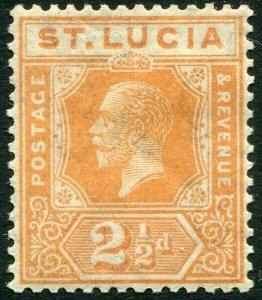 ST LUCIA-1925 2½d Orange Sg 99 MOUNTED MINT V33915