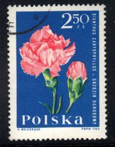 Poland    #1288    cancelled   1964   garden plants   2.50z
