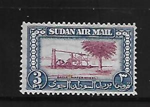SUDAN, C37, NO GUM, WATER WHEEL