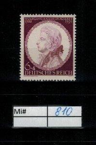 Deutschland Reich TR02 DR Mi 810 1939 Reich Postfrisch ** MNH