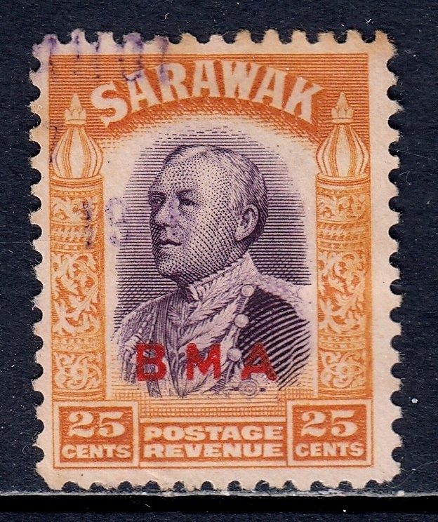 Sarawak - Scott #146 - Used - Fiscal cancel, toning at top - SCV $3.00