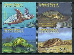 Micronesia Stamps 2009 MNH Turtles of Pacific Green Sea Hawksbill Turtle 4v Set