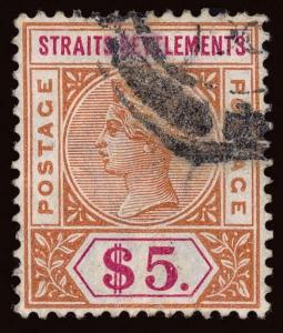 Straits Settlements Scott 83-88 Gibbons 95-105 Used Set of Stamps