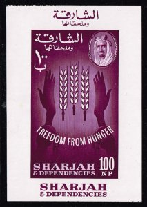 SHARJAH STAMP 1963 Freedom from Hunger MNH S/S