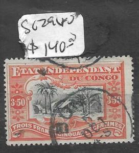 BELGIAN CONGO (P2711B) 3.50FR SC 19  VFU