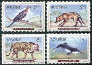 HERRICKSTAMP NEW ISSUES ROMANIA Sc.# 5934-37 Recently Extinct Species