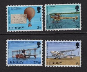 Jersey #81-84 MNH CV$1.10 Balloon Planes