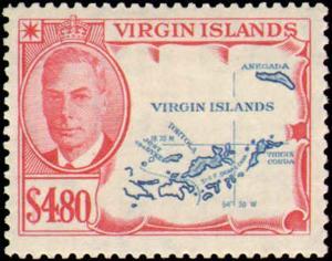VIRGIN ISLANDS #102-113 MINT HINGED COMPLETE SET  ( 12 )