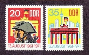 Germany DDR 1316-17 MNH 1971 10 Years of Berlin Wall Set