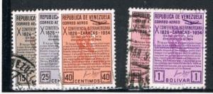 Venezuela C581-83; C85-86 Used Bolivars Manifesto (V0168)