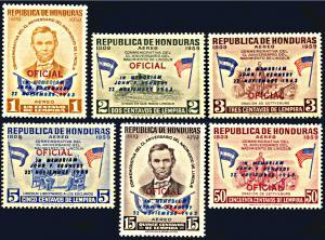 Honduras C325-C330, MNH, John F. Kennedy In Memorium