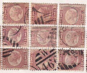 GREAT BRITAIN SC 58 PLATE 11 SOUND x9 $198 SCV MOUNTED