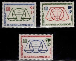 Cambodia Scott 126-128 MNH** UNESCO stamp set