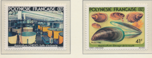 French Polynesia Stamps Scott #344 To 345, Mint Never Hinged - Free U.S. Ship...