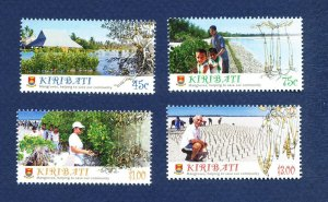 KIRIBATI - Scott 1013-1016 - FVF MNH - Mangrove Trees, Farming - 2014