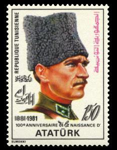 Tunisia 790, MNH, Kemal Ataturk
