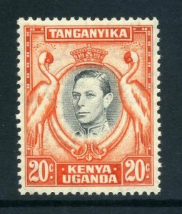 KUT 1938 KGVI 20c perf 13¼ SG 139 black + orange mint
