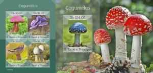 Z08 ST190306ab Sao Tome and Principe 2019 Mushrooms MNH ** Postfrisch