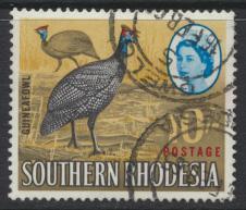 Southern Rhodesia  SG 104 SC# 107   Used    Guinea Fowl