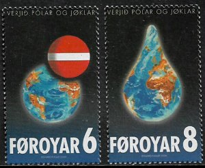 Faroe Is #508-9 MNH Set - Global Warming