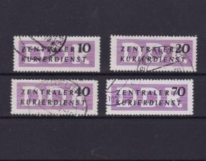 GERMANY EARLY USED  COURIER LABEL STAMPS  R3778