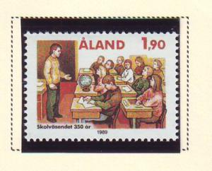 Aland Sc 57 1989 Educational System stamp mint NH