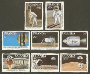 Uganda #693-700 NH Moonlanding